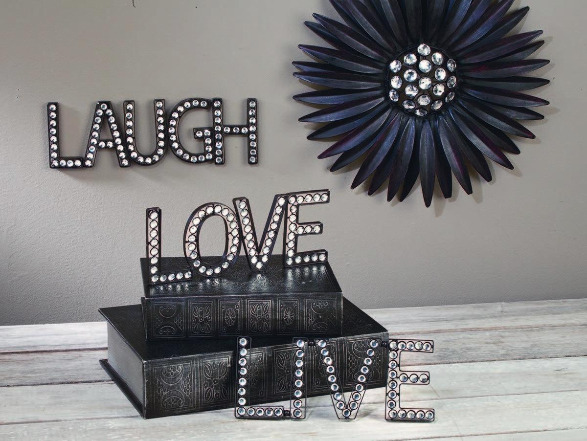 Live, Love, Laugh Beaded Wall Art – Tripar International, Inc (Image 18 of 20)