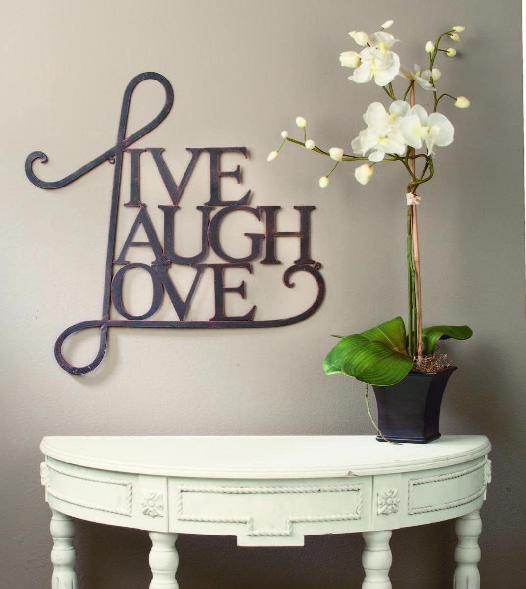 Live Love Laugh Wall Decor Wood Family Art 3 Reasons Why Intended For