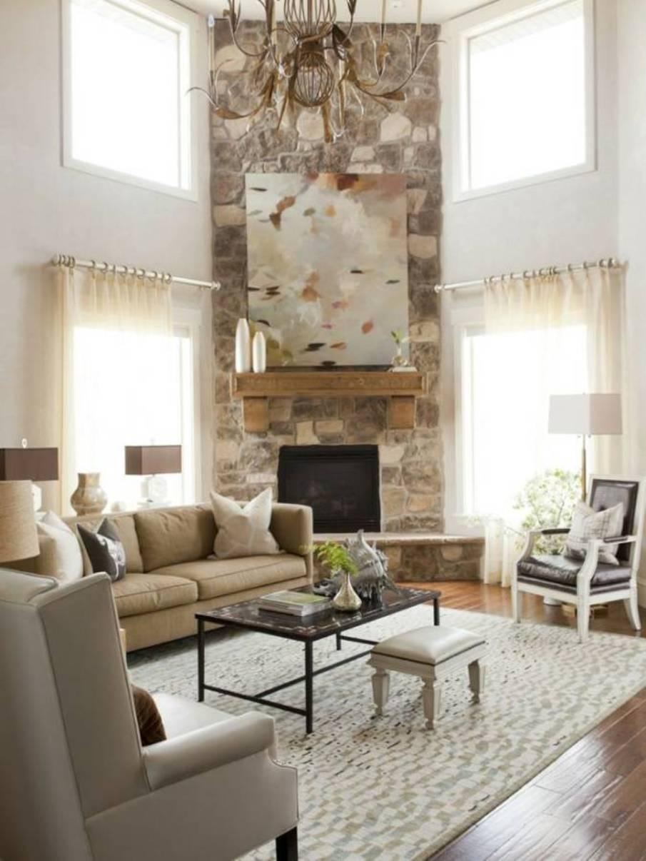 Living Room : Small Living Room Ideas With Corner Fireplace Front Within Fireplace Wall Art (View 7 of 20)