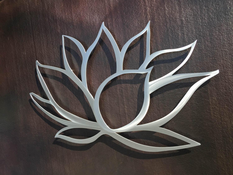Lotus Flower Metal Wall Art Lotus Metal Art Home Decor Within Big Metal Wall Art (Image 9 of 20)