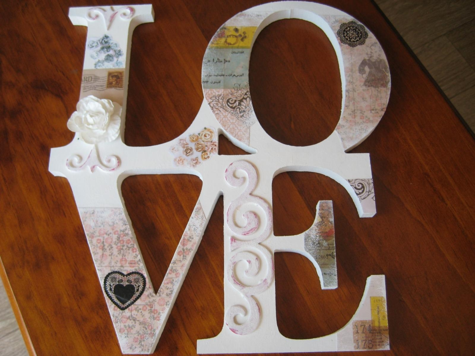Love Decoupage Wall Art | Felt Inside Decoupage Wall Art (Image 14 of 20)