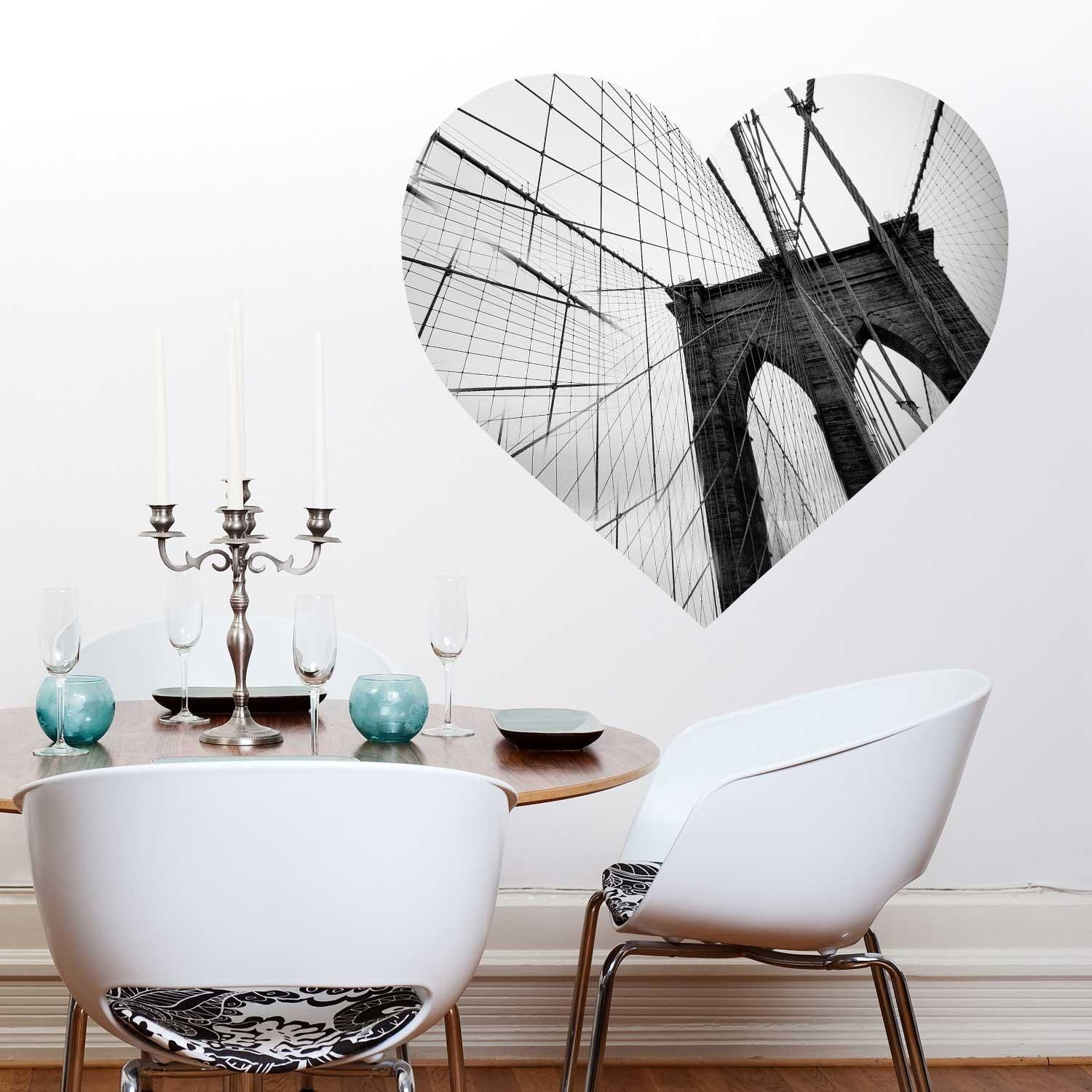 Love New York Wall Decal – Brooklyn Bridge Wall Decalchromantics Pertaining To Brooklyn Bridge Wall Decals (Image 9 of 20)