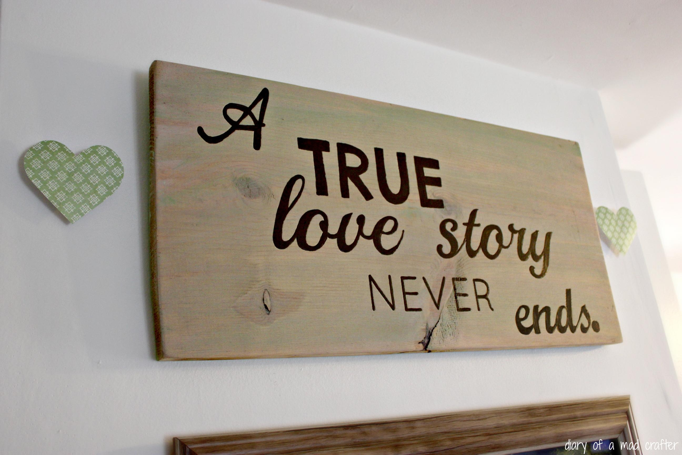Love Quote Wall Art | Diary Of A Mad Crafter With Love Wall Art (View 3 of 20)