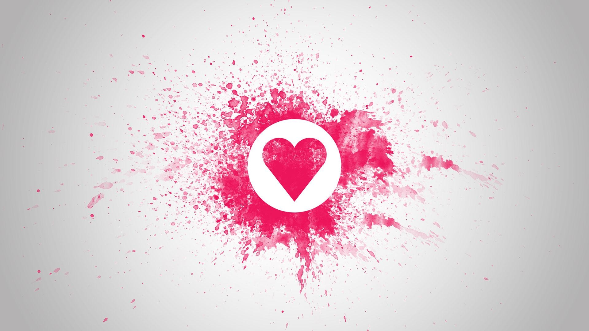 Love Wall Art Pink Red Desktop Background Wallpaper (1080P) – Hd Image Inside Love Wall Art (Image 12 of 20)