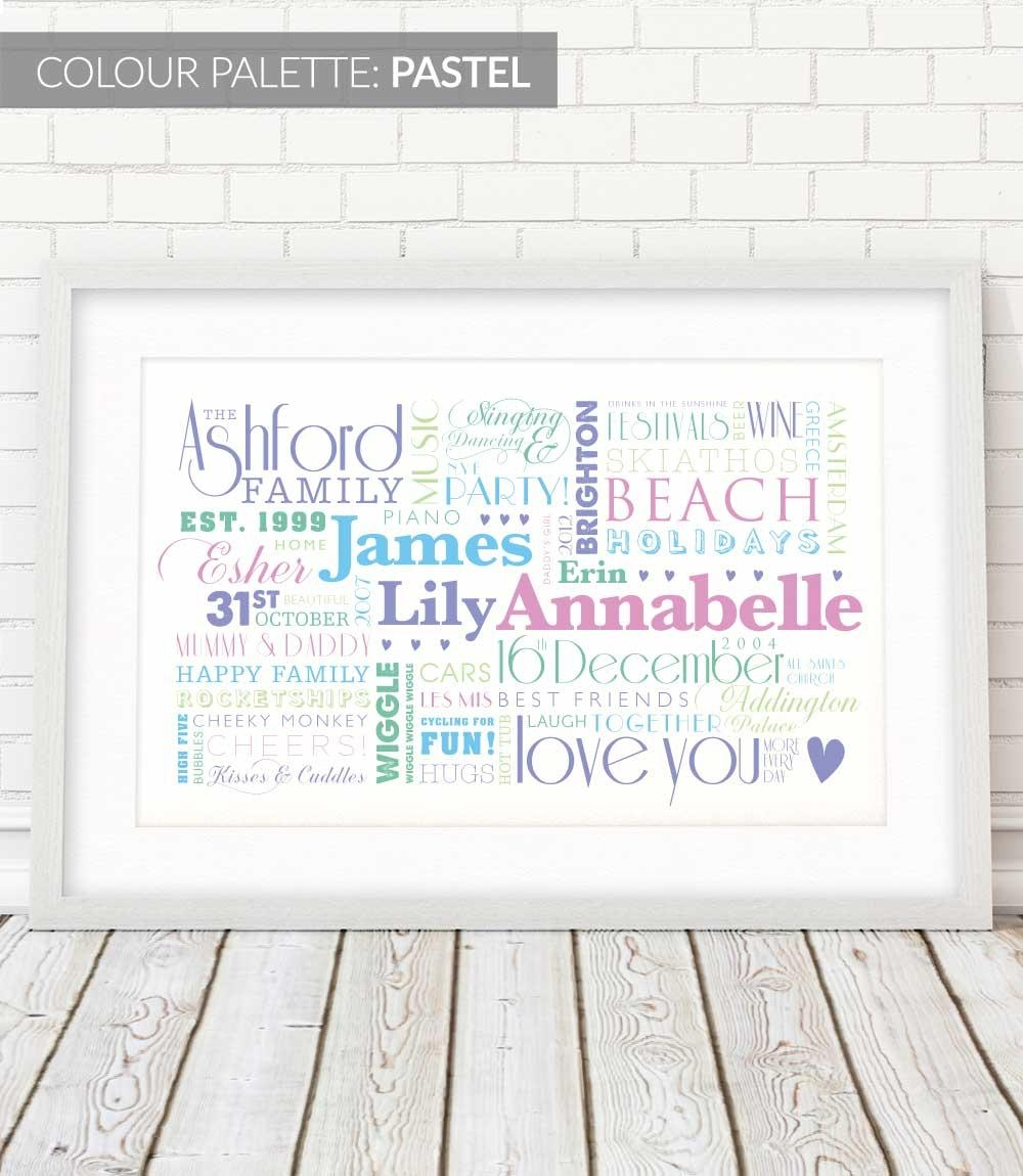 Lovely Words Family Wall Art, Extra Large | Lovely Words Inside Extra Large Framed Wall Art (View 19 of 20)