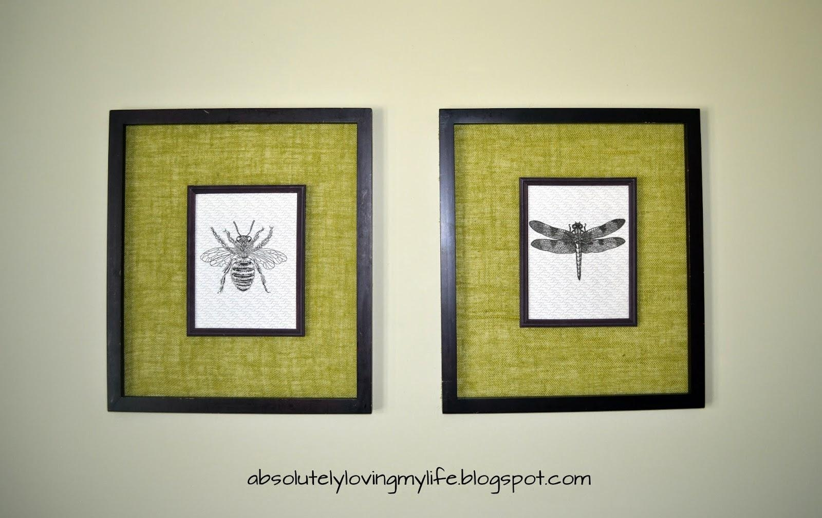 Loving Life: Diy Vintage Insect Wall Art Regarding Insect Wall Art (Image 10 of 20)