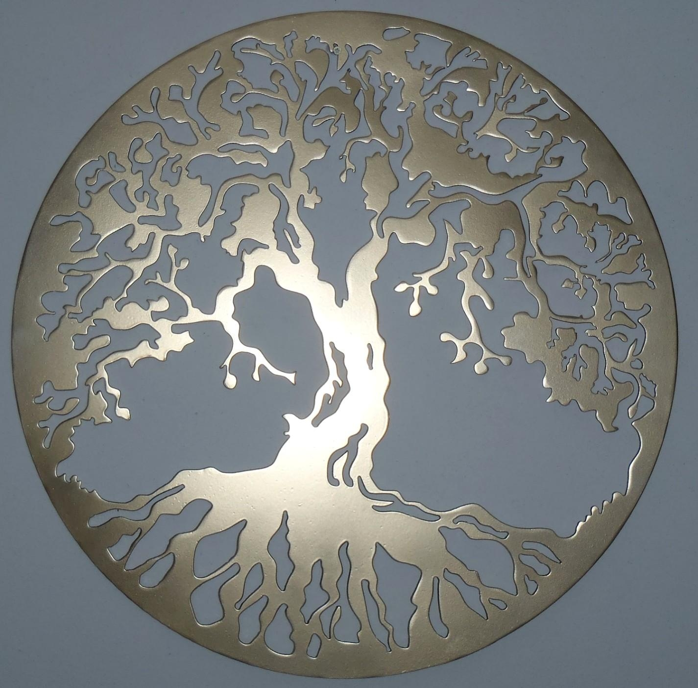 Luxury Autumn Leaves Metal Wall Decor Regarding Metal Tree Wall Art Sculpture (View 17 of 20)