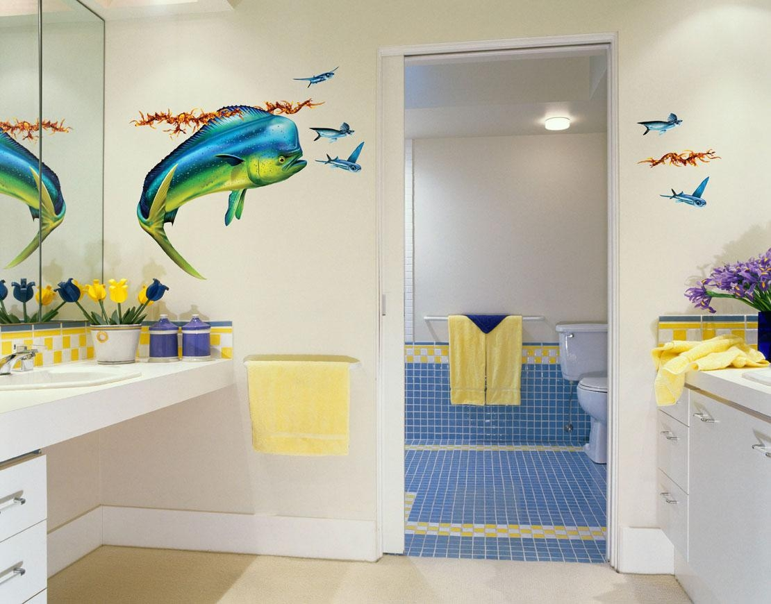 Mahi Mahi (Dolphin Fish) Wall Decal – Bold Wall Art For Fish Decals For Bathroom (View 2 of 20)
