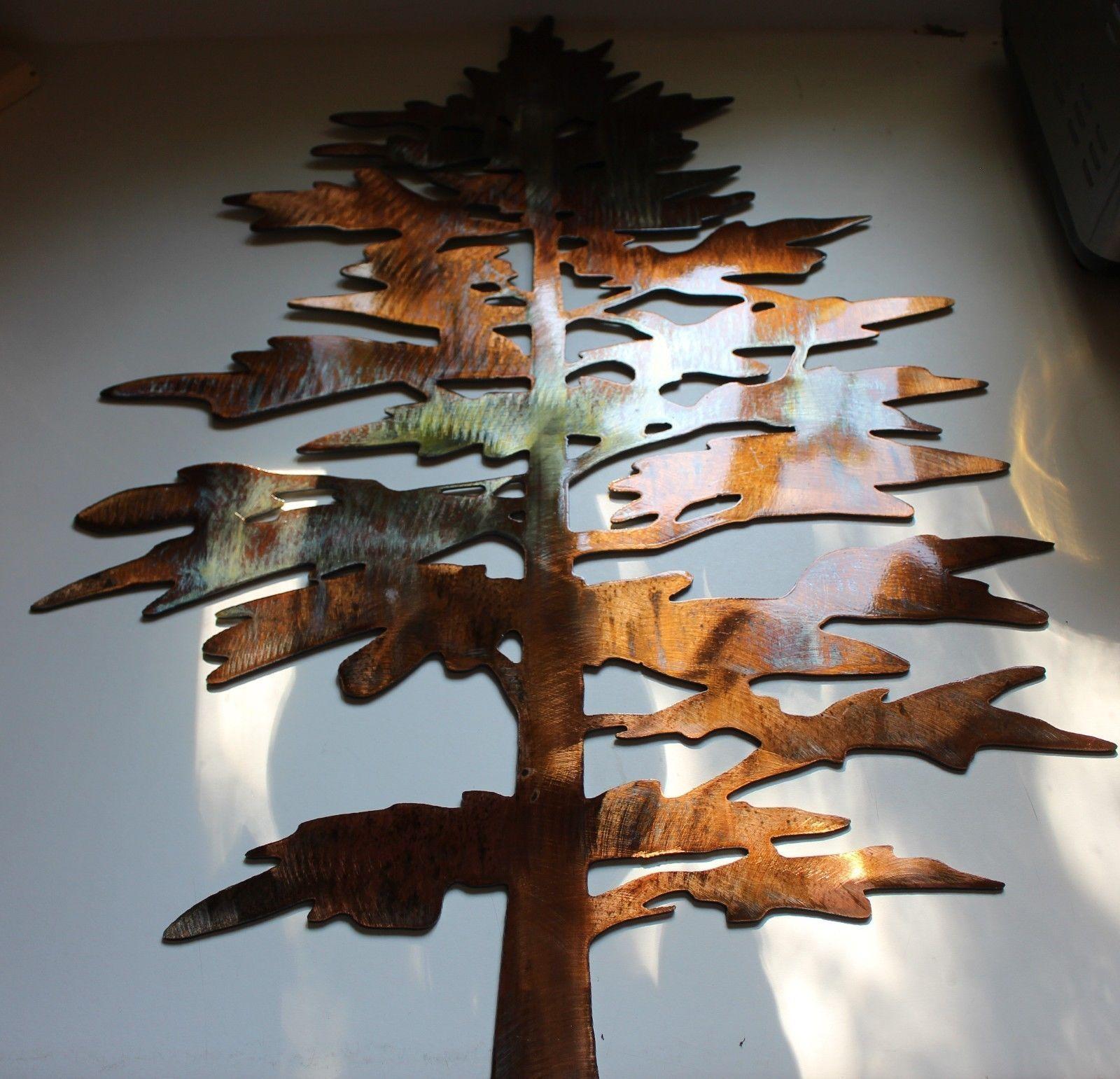 Majestic Fat Pine Tree Metal Wall Art Decor • $ (View 19 of 20)