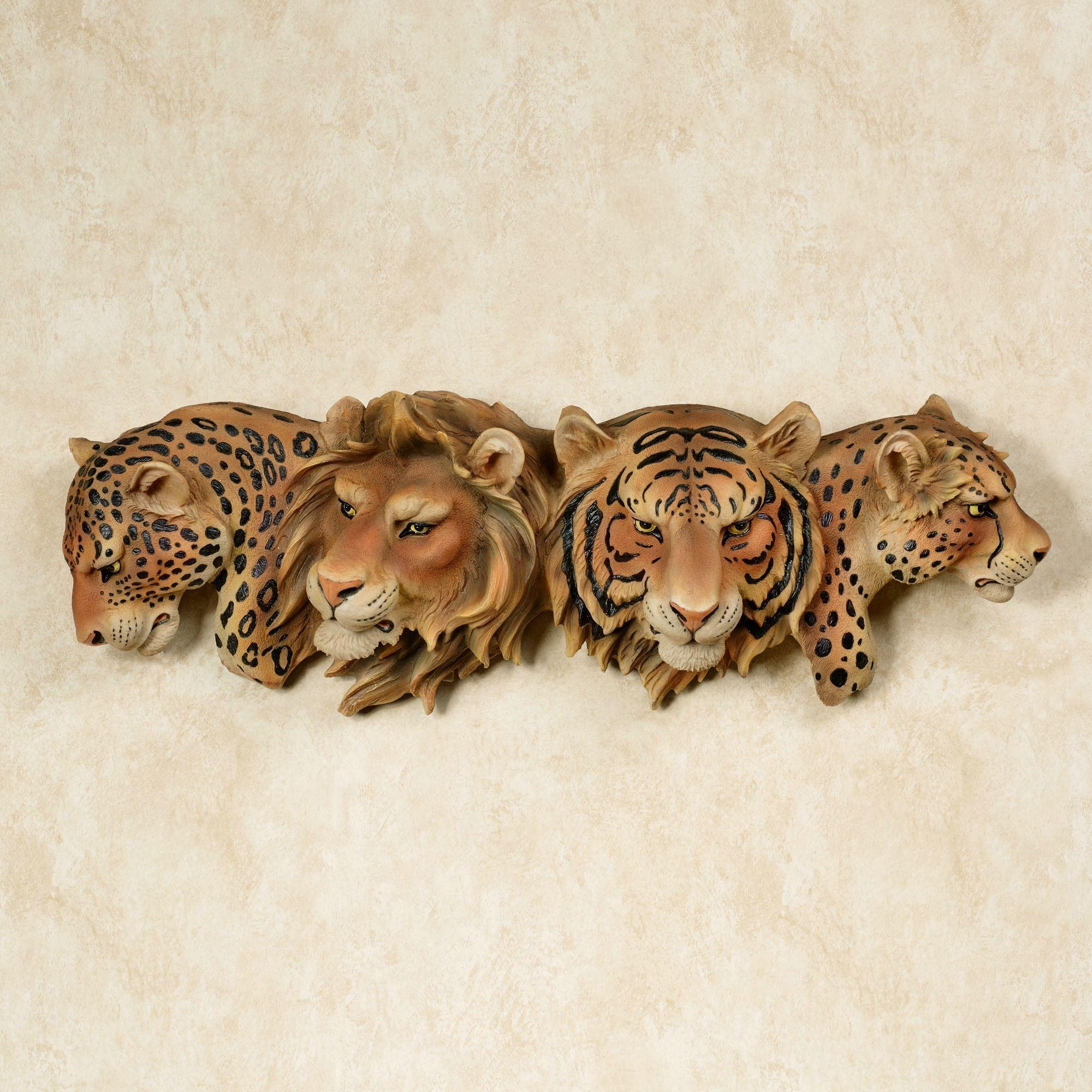 Majestic Pride Safari Cats Wall Art Within Animal Wall Art (Image 14 of 20)