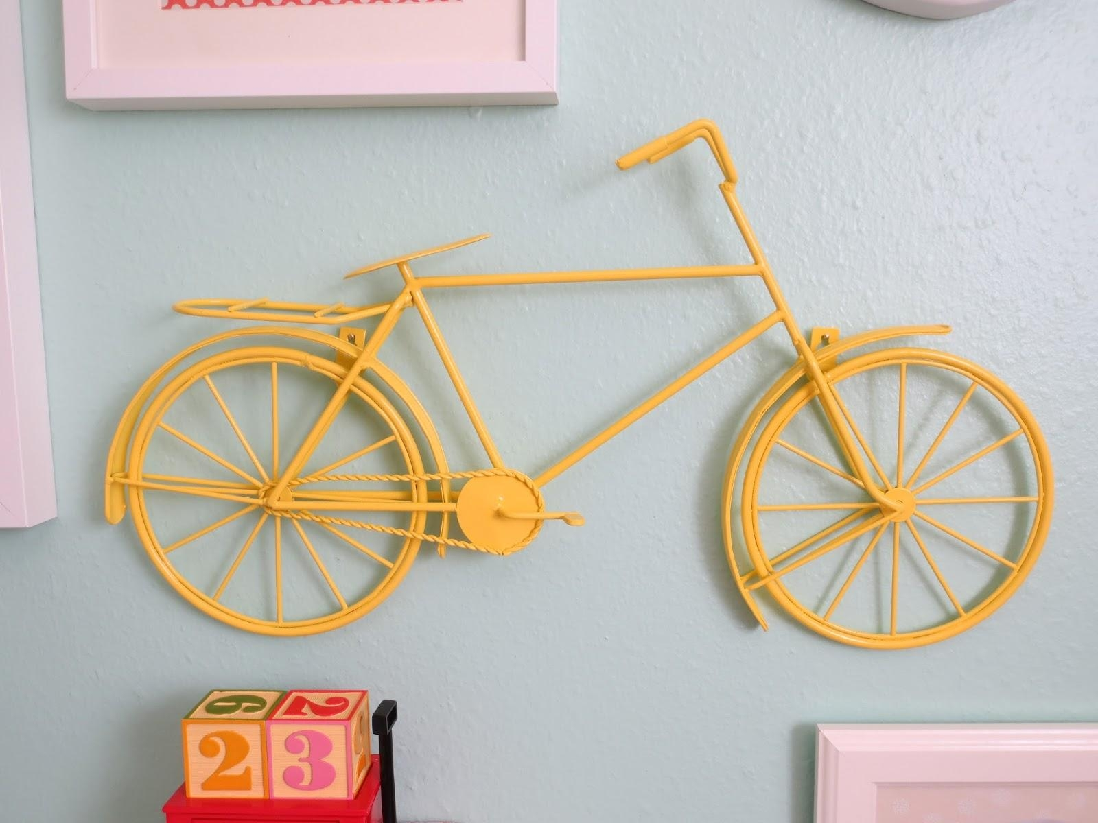 Make Bake And Love: The Nursery Reveal! Inside Bicycle Metal Wall Art (Image 10 of 20)