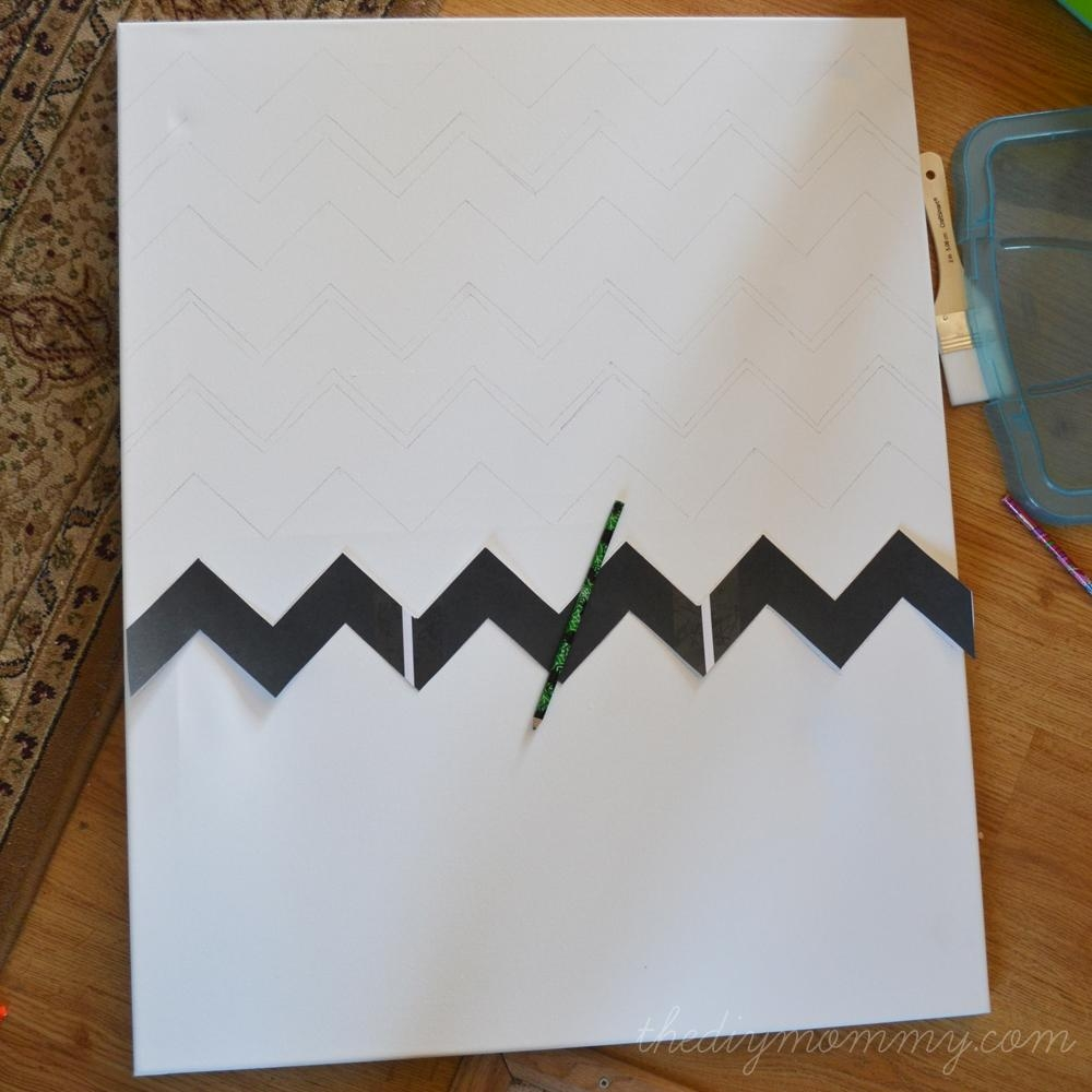 Make Chevron & Sticker Quote Wall Art | The Diy Mommy For Diy Canvas Wall Art Quotes (Image 13 of 20)