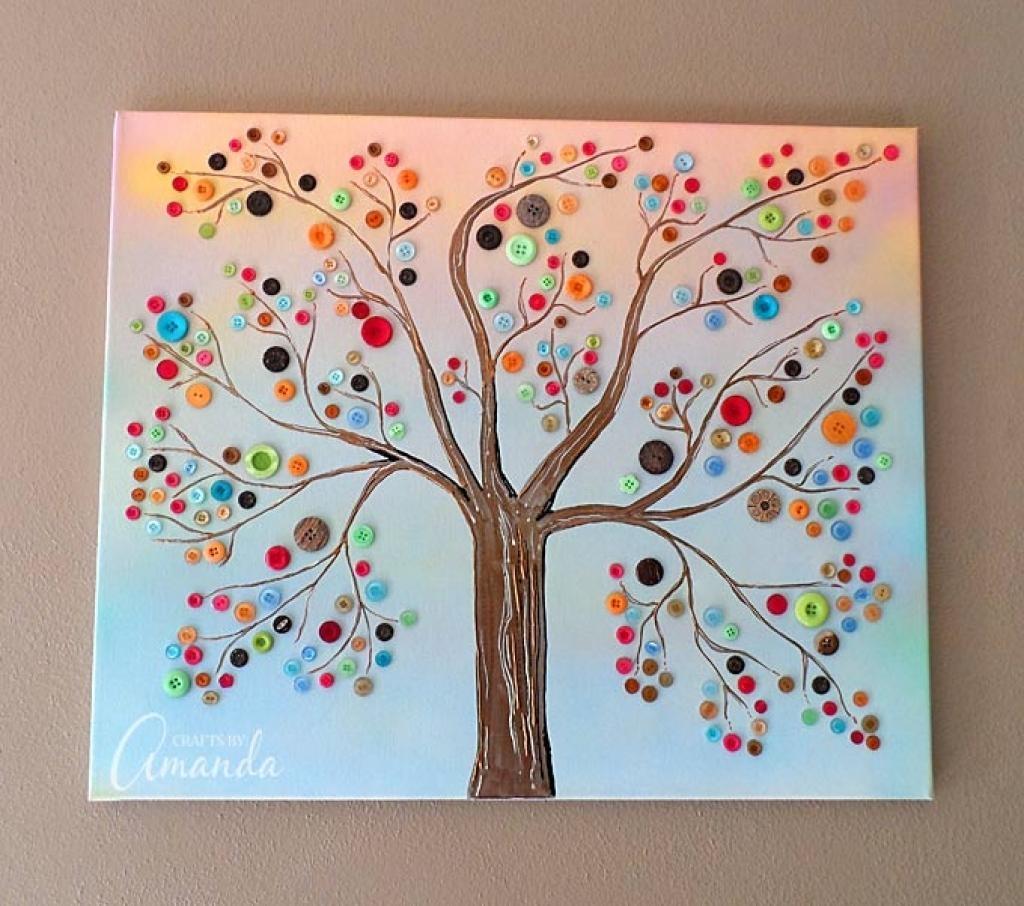 Make Photos Into Canvas Wall Art Button Tree A Beautiful Canvas Regarding Vibrant Wall Art (Image 13 of 20)