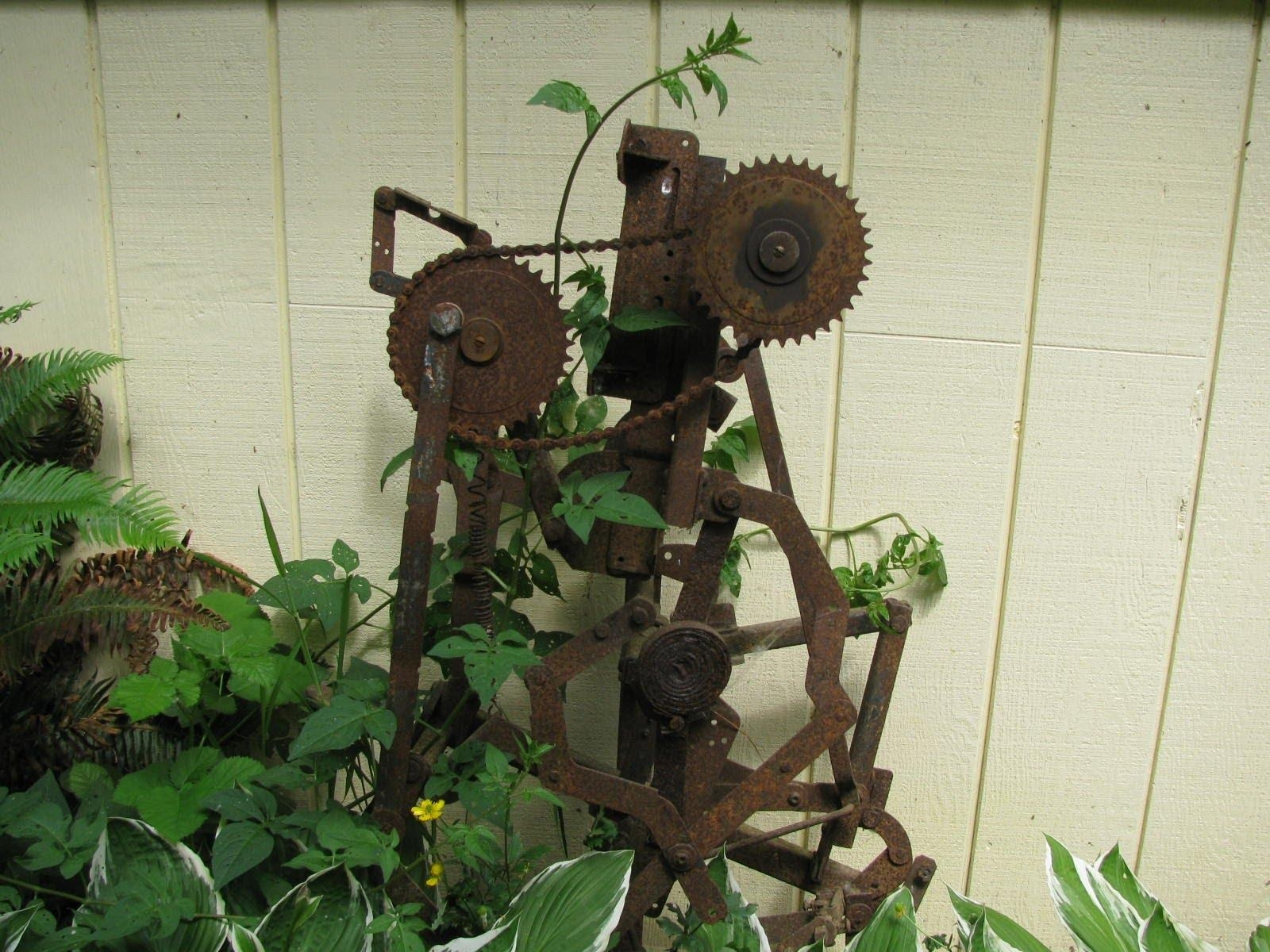 Making Metal Sculptures For Yard Art – Youtube For Metal Sunflower Yard Art (Image 14 of 20)