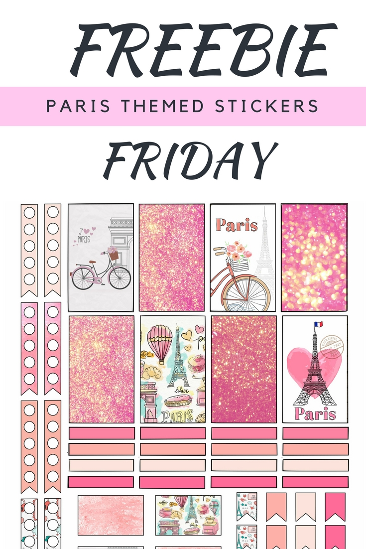 Malena Haas: ❤Freebie Friday❤ Paris Themed Planner Stickers Regarding Paris Themed Stickers (View 4 of 20)