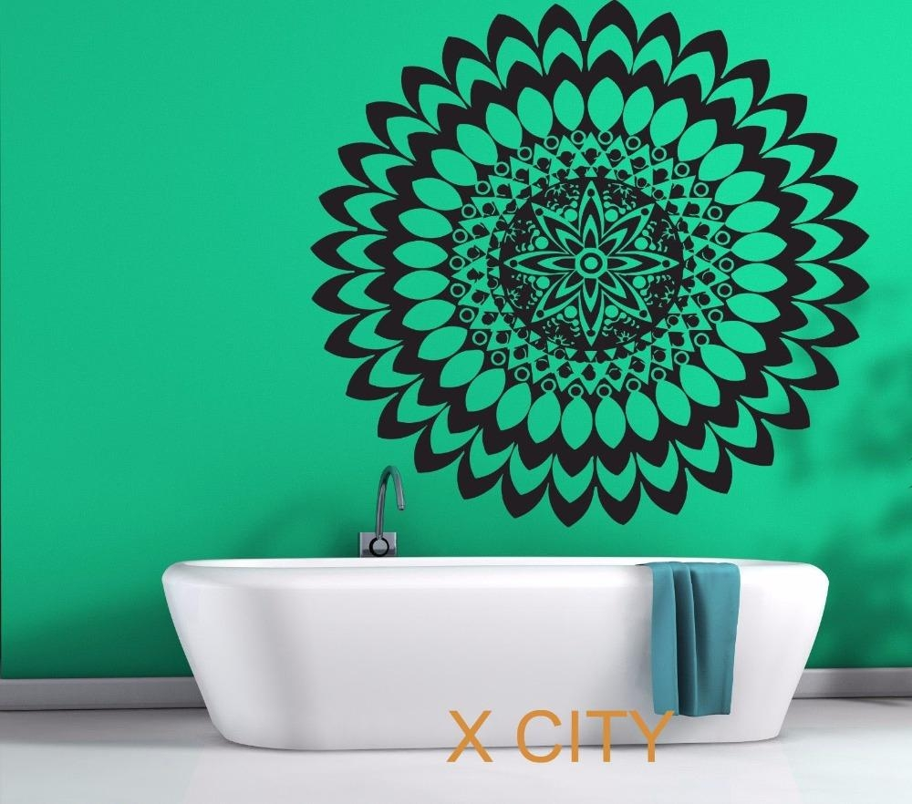 Mandala Circle Meditation Floral Pattern Wall Art Decal Sticker With Pattern Wall Art (View 18 of 20)