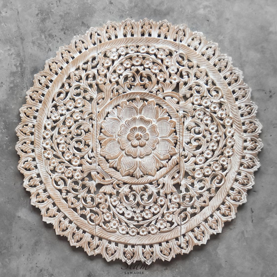 Mandala Wood Carving Wall Panel Decor u2013 Siam Sawadee With Wood Carved Wall Art Panels (  sc 1 st  tany.net & 20 Photos Wood Carved Wall Art Panels | Wall Art Ideas