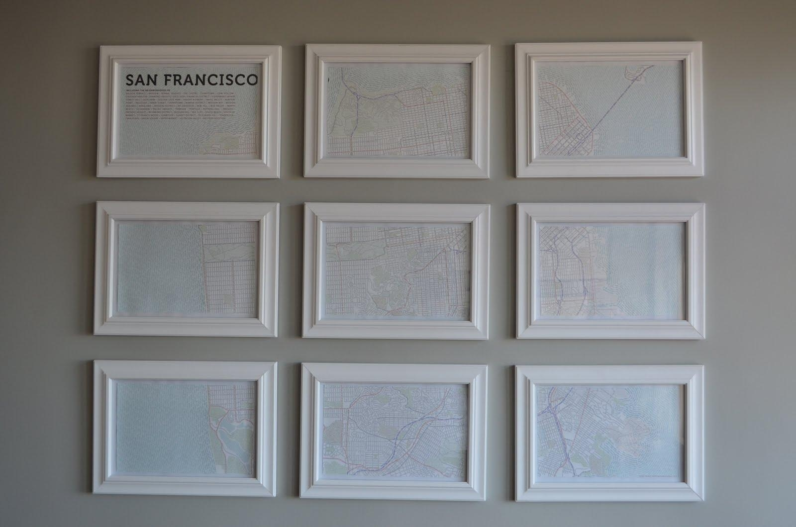 Map Wall Art Diy | They So Loved Events | Wine Country & San Regarding Maps For Wall Art (View 4 of 20)