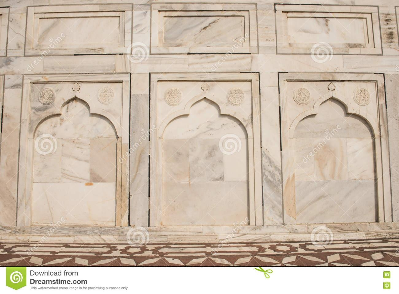 Marble Designs In Taj Mahal Stock Photo – Image: 72473880 Throughout Taj Mahal Wall Art (Image 12 of 20)