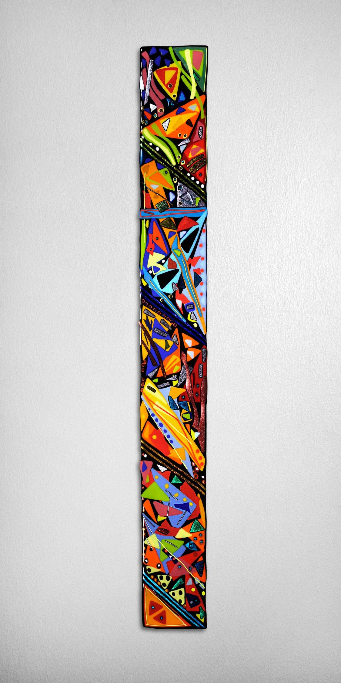 Mardi Gras Wall Panelhelen Rudy (Art Glass Wall Sculpture With Glass Wall Art Panels (Image 17 of 20)