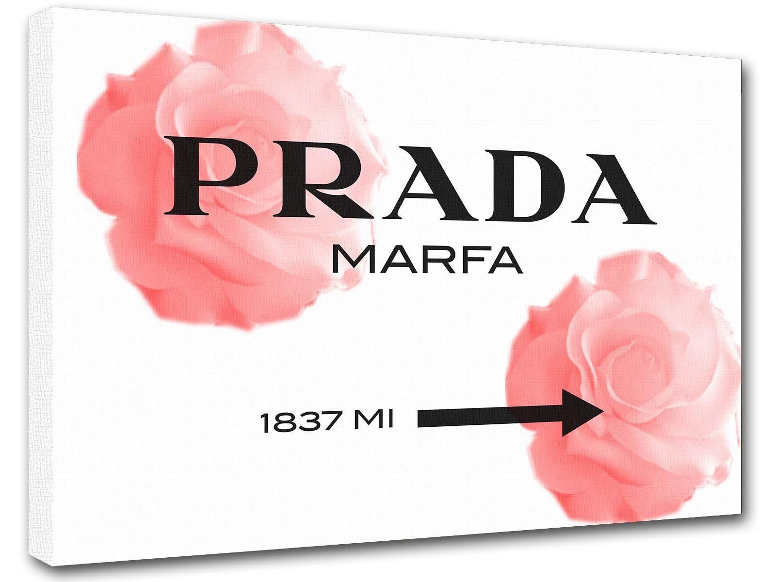 Marfa Gossip Girl Abstract Painting, Rose Art, Interior Decoration Intended For Prada Marfa Wall Art (Image 10 of 20)