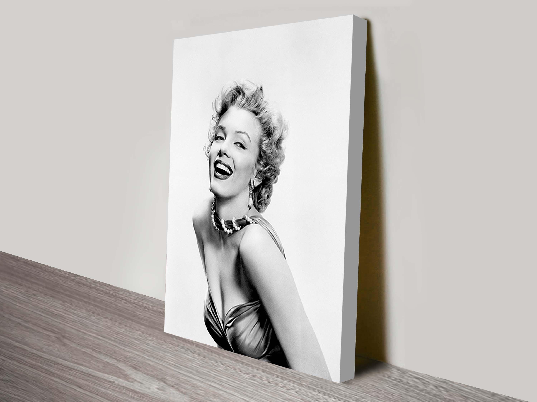 Marilyn Monroe Black & White Pop Art Canvas Throughout Marilyn Monroe Black And White Wall Art (View 18 of 20)