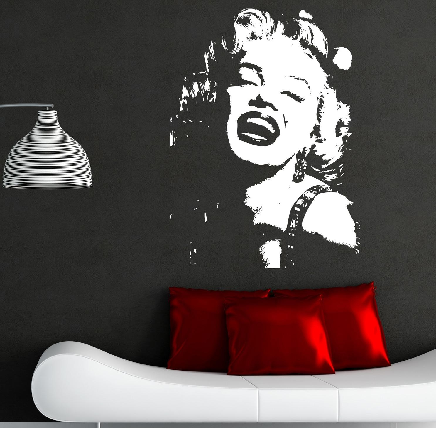 Marilyn Monroe Wall Sticker Art Decals I1 | Ebay Inside Marilyn Monroe Wall Art (View 5 of 20)