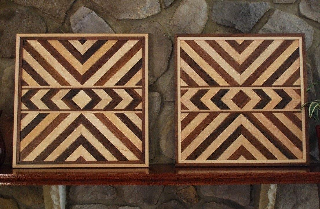 Matching Aztec Wood Art Native American Geometric Design Wood Intended For Native American Wall Art (Image 12 of 20)