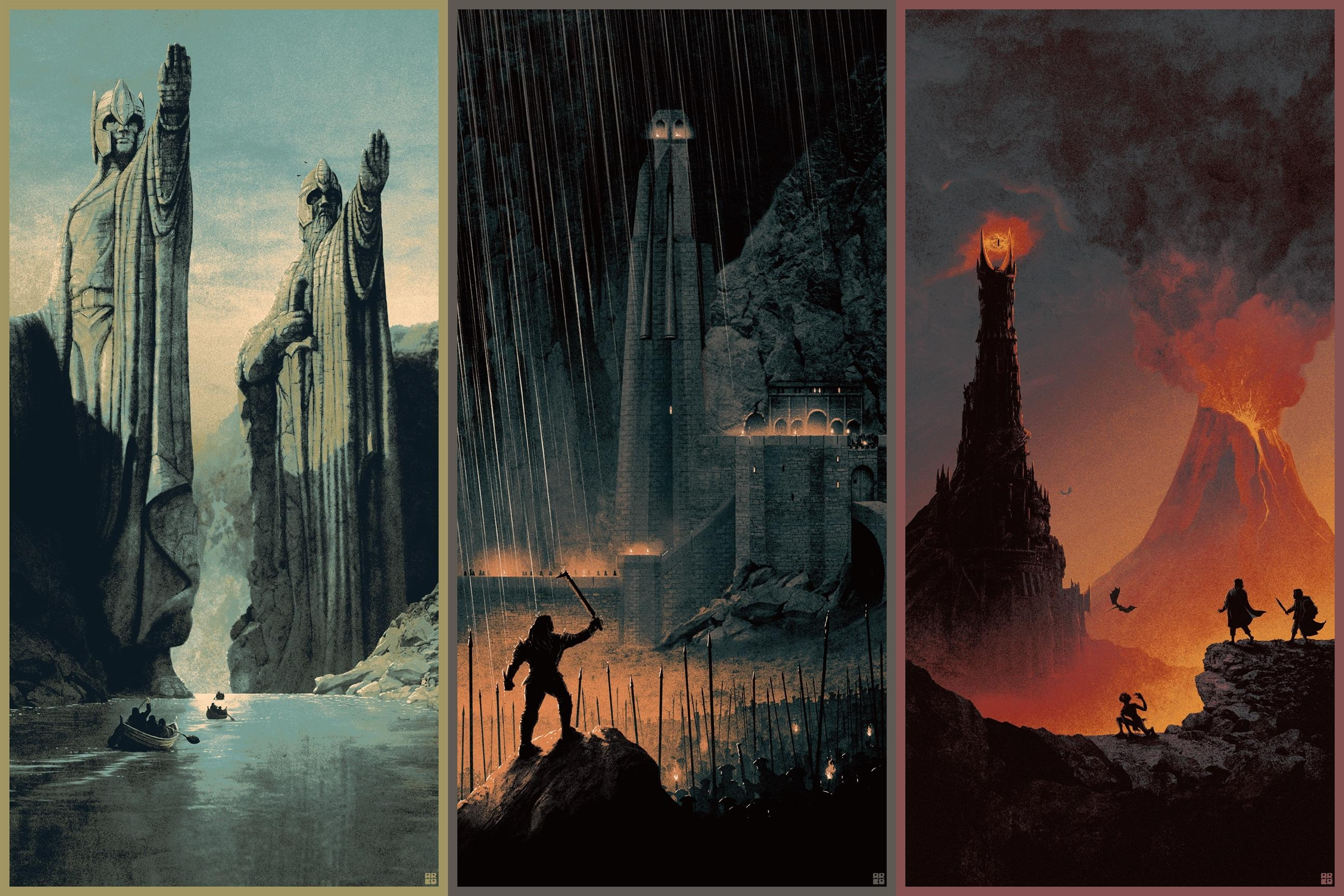 Matt Ferguson's Lord Of The Rings Posters Are Amazing | Collider For Art Prints To Hang On Your Wall (Photo 13 of 20)