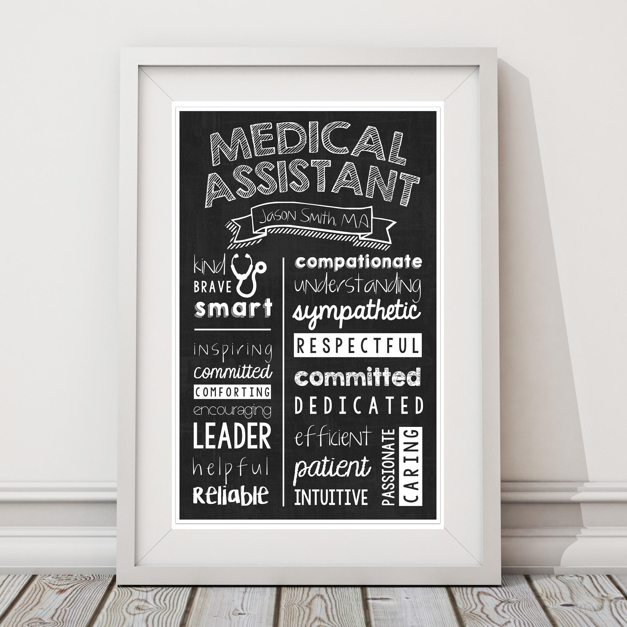 Medical Assistant Chalkboard Wall Art – Medical Assistant Graduate Within Medical Wall Art (Image 7 of 20)