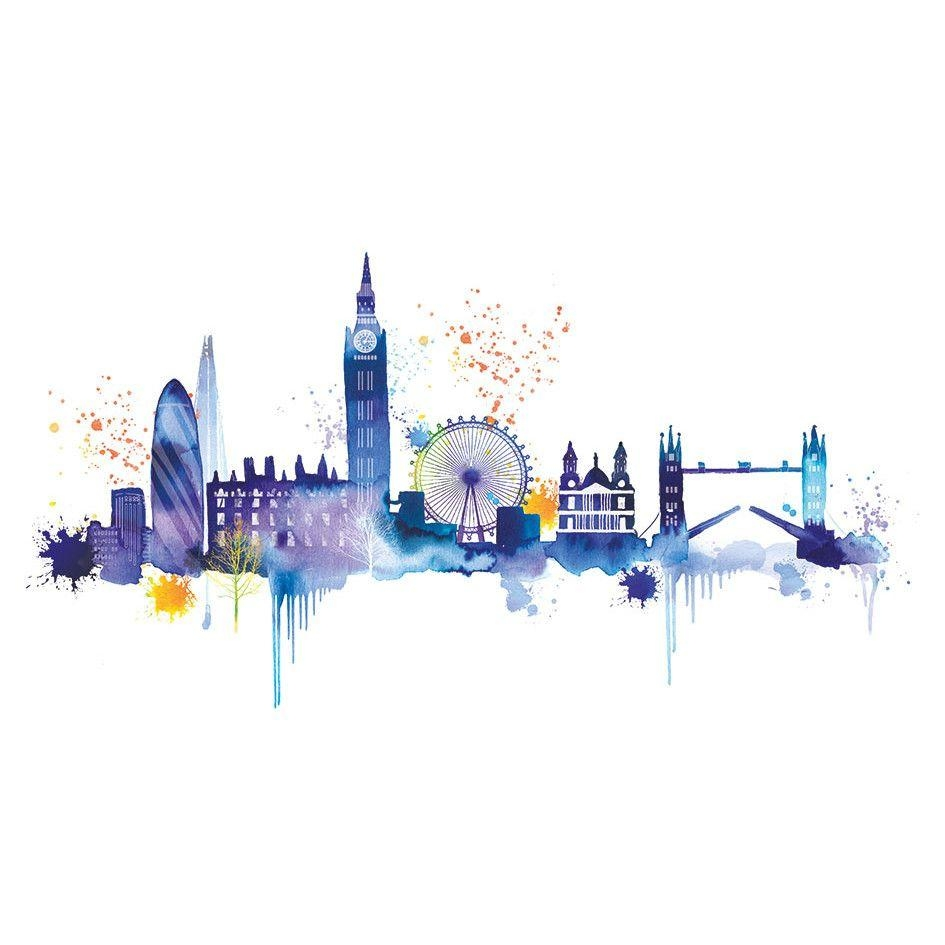 Mesmerizing London Wall Art Ebay Removable Vinyl Wall Stickers With London Scene Wall Art (View 15 of 20)