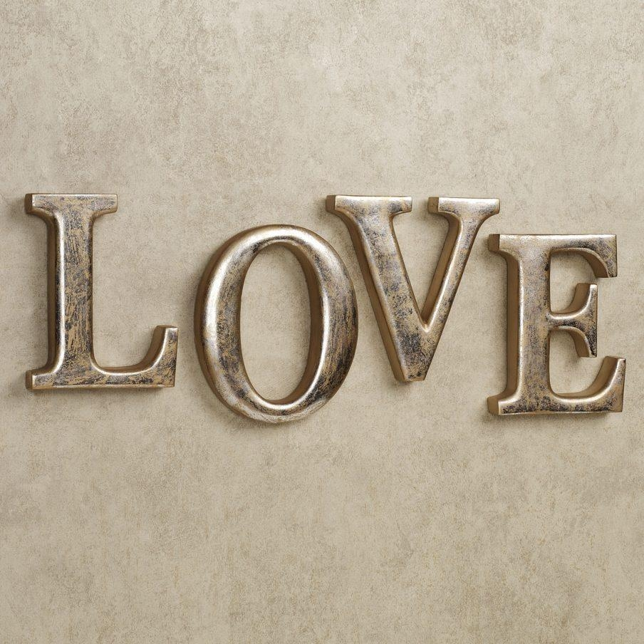 Large Metal Love Wall Art 20 Collection Of Love Wall Art  Wall Art Ideas