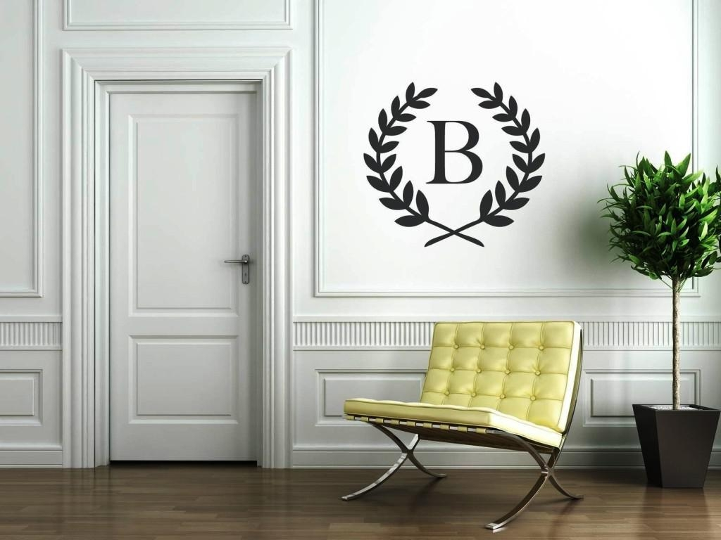 Mesmerizing Monogram Wall Art Groupon Monogram Wall Decals With Groupon Wall Art (Image 2 of 20)