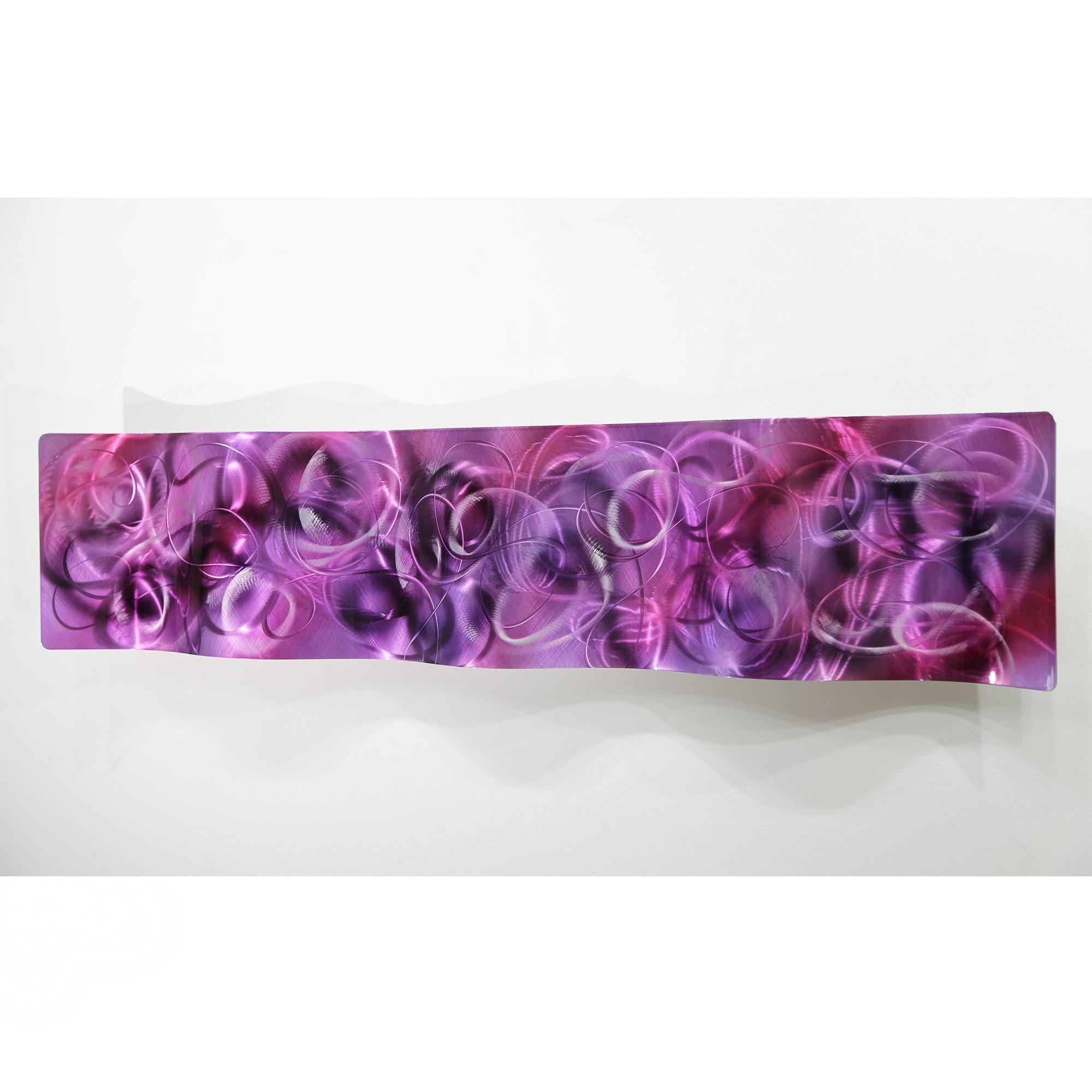 Metal Abstract Modern Painting Wall Art Sculpture Purple Majesty Throughout Purple Abstract Wall Art (Image 8 of 20)