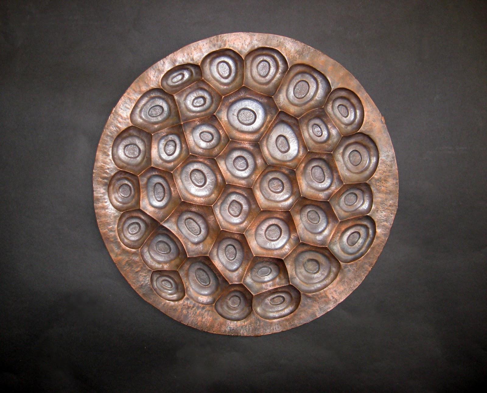 Metal Art And Sculpture: Images From Maronpot Studios Regarding Hammered Metal Wall Art (Image 8 of 20)