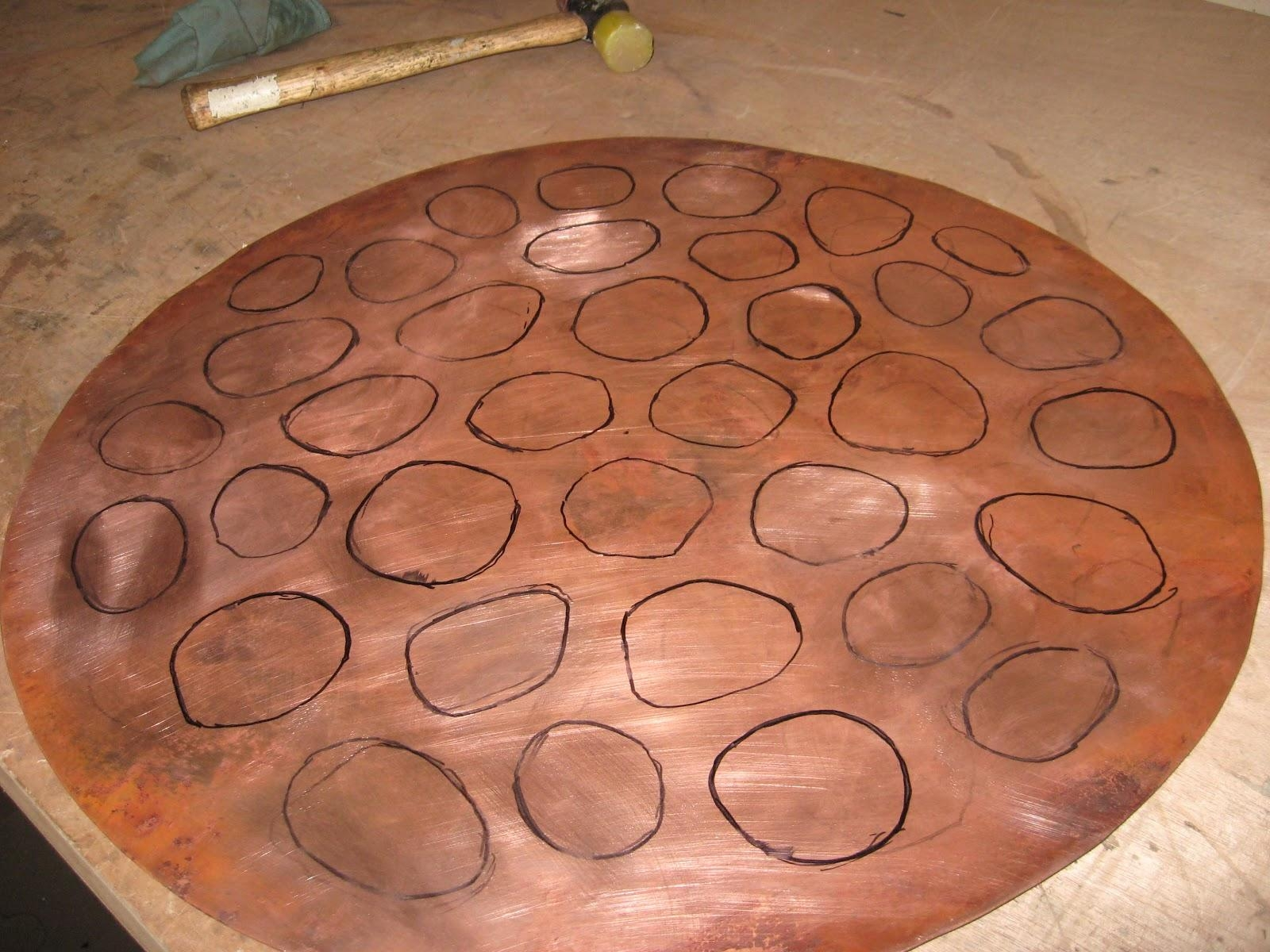 Metal Art And Sculpture: Repousse And Chasing Tutorial – Copper In Hammered Metal Wall Art (Image 9 of 20)