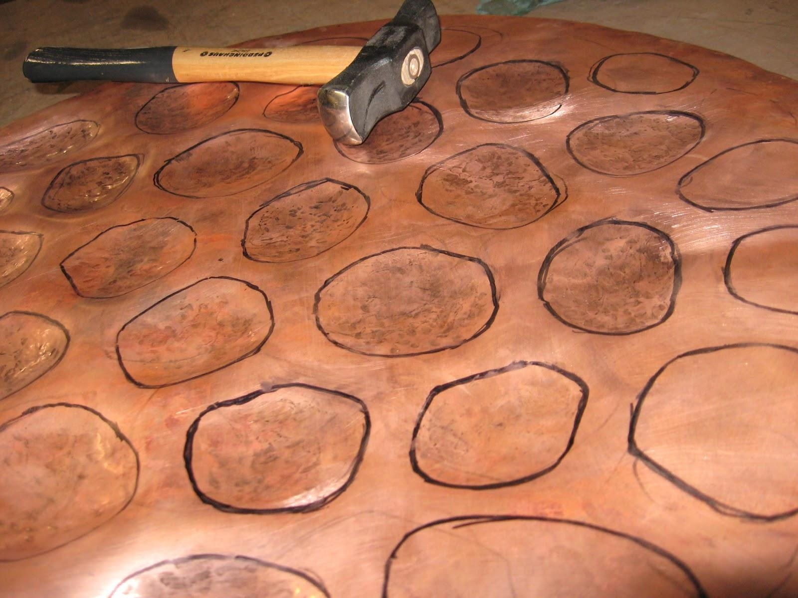 Metal Art And Sculpture: Repousse And Chasing Tutorial – Copper Pertaining To Hammered Metal Wall Art (Image 10 of 20)