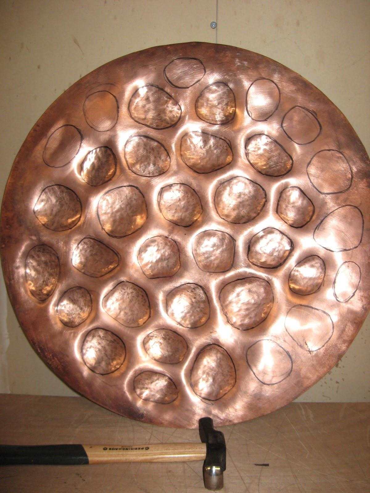 Metal Art And Sculpture: Repousse And Chasing Tutorial – Copper Regarding Hammered Metal Wall Art (Image 11 of 20)