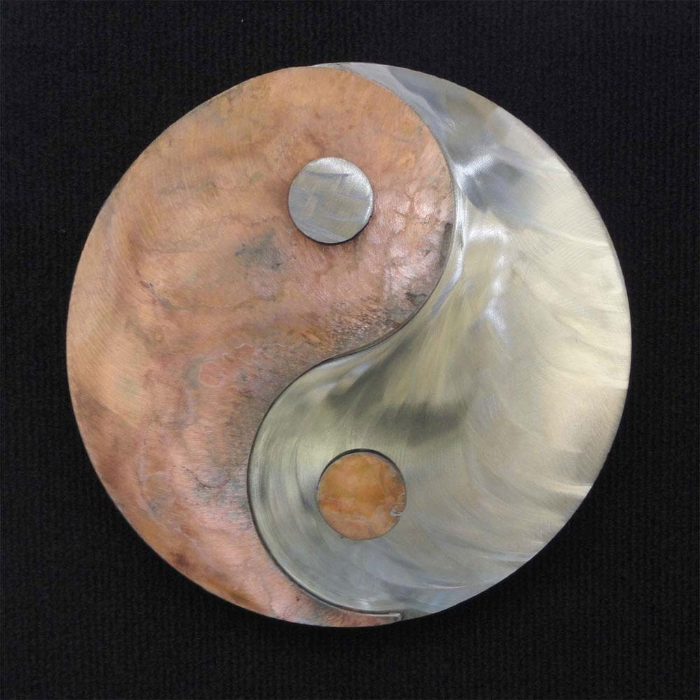 Metal Art Gift: Yin Yang – Transmutation Of Energieskristen With Regard To Yin Yang Wall Art (Image 5 of 20)