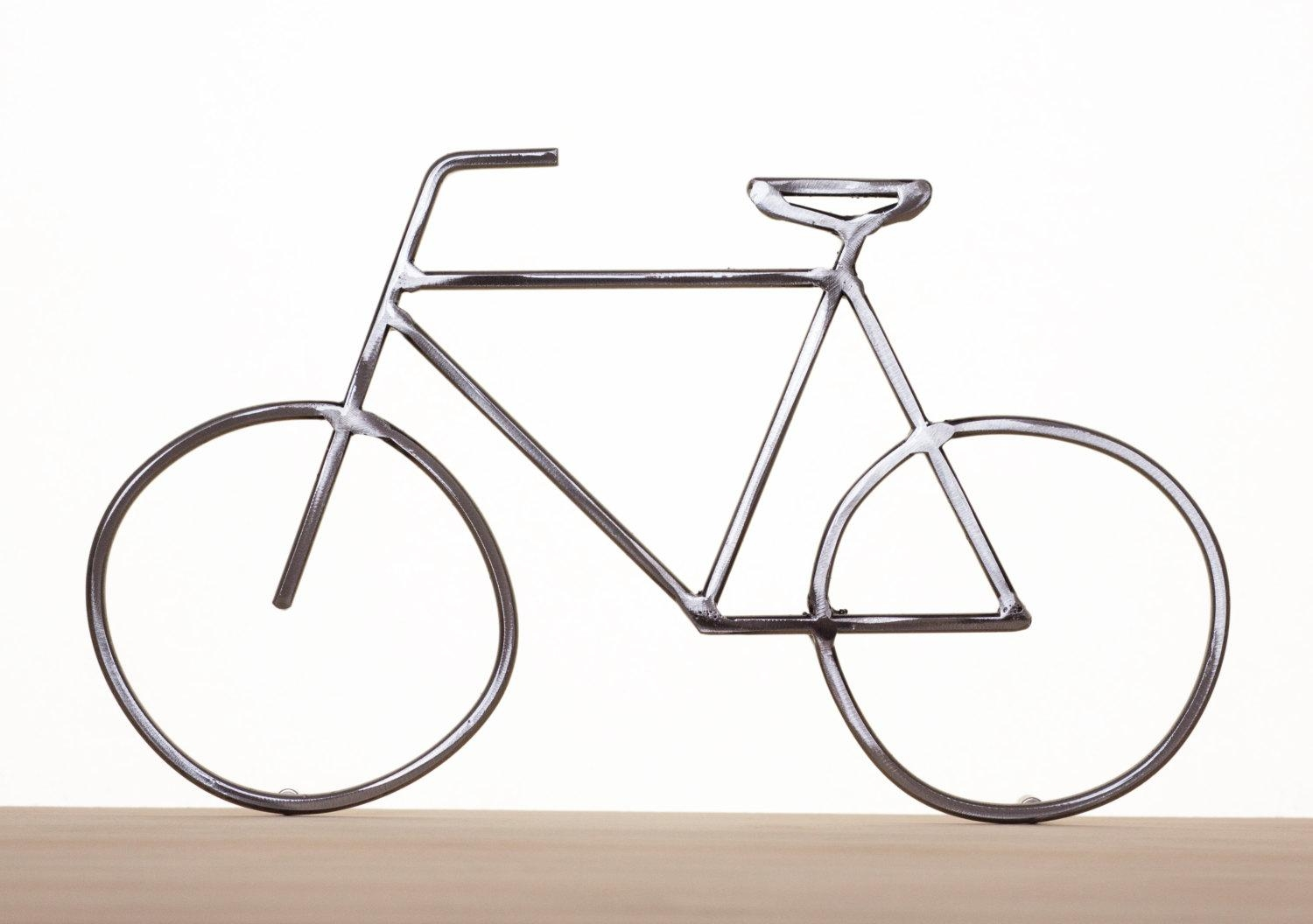 Metal Bike Art Bike Sculpture Metal Bicycle Metal Wall Art With Regard To Bicycle Metal Wall Art (Image 11 of 20)