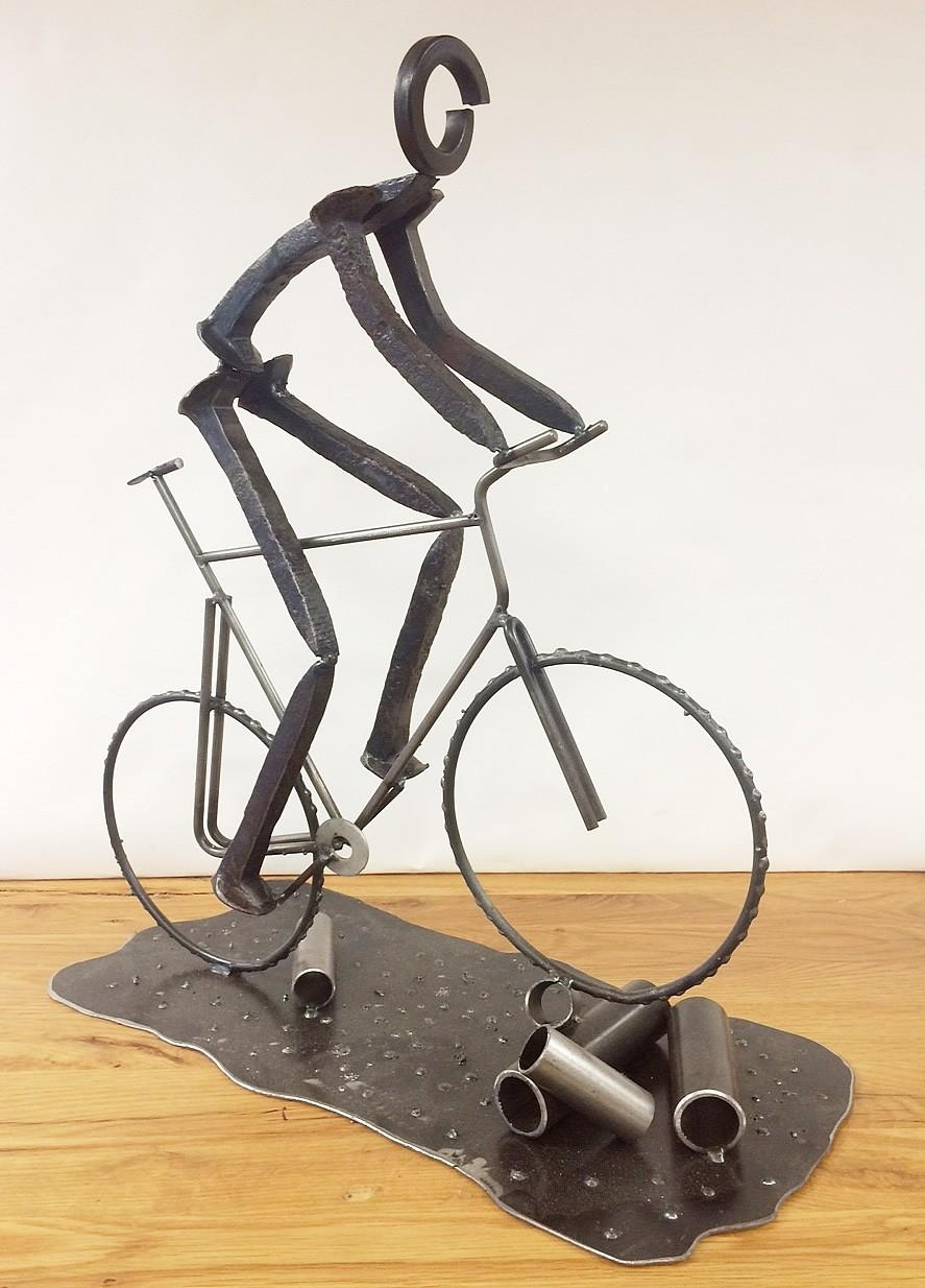 Metal Bike Artken: Mountain Biker Cycling Cento Cycling Regarding Metal Bicycle Art (Image 9 of 20)