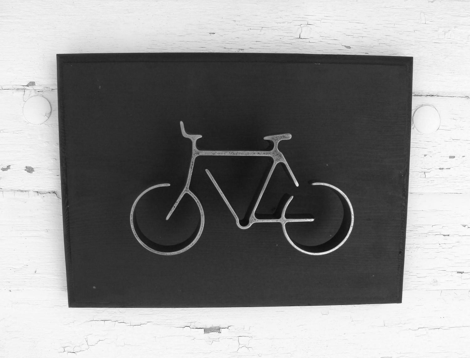 Metal Bike Wall Art Sign Bicycle Wall Hanging Home Or Office Intended For Bike Wall Art (Image 11 of 20)