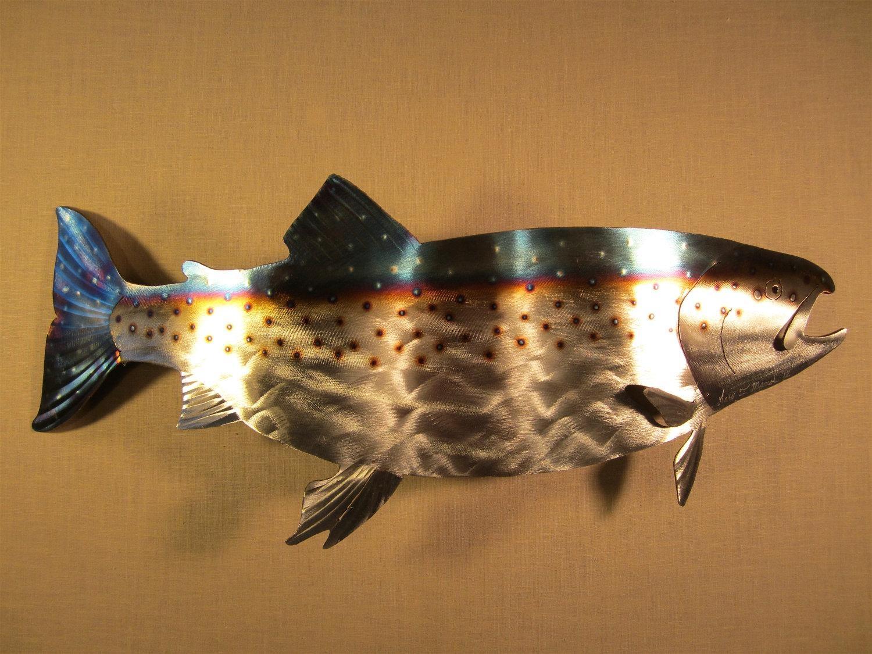 Metal Fish Wall Art | Roselawnlutheran In Shoal Of Fish Metal Wall Art (Image 8 of 20)