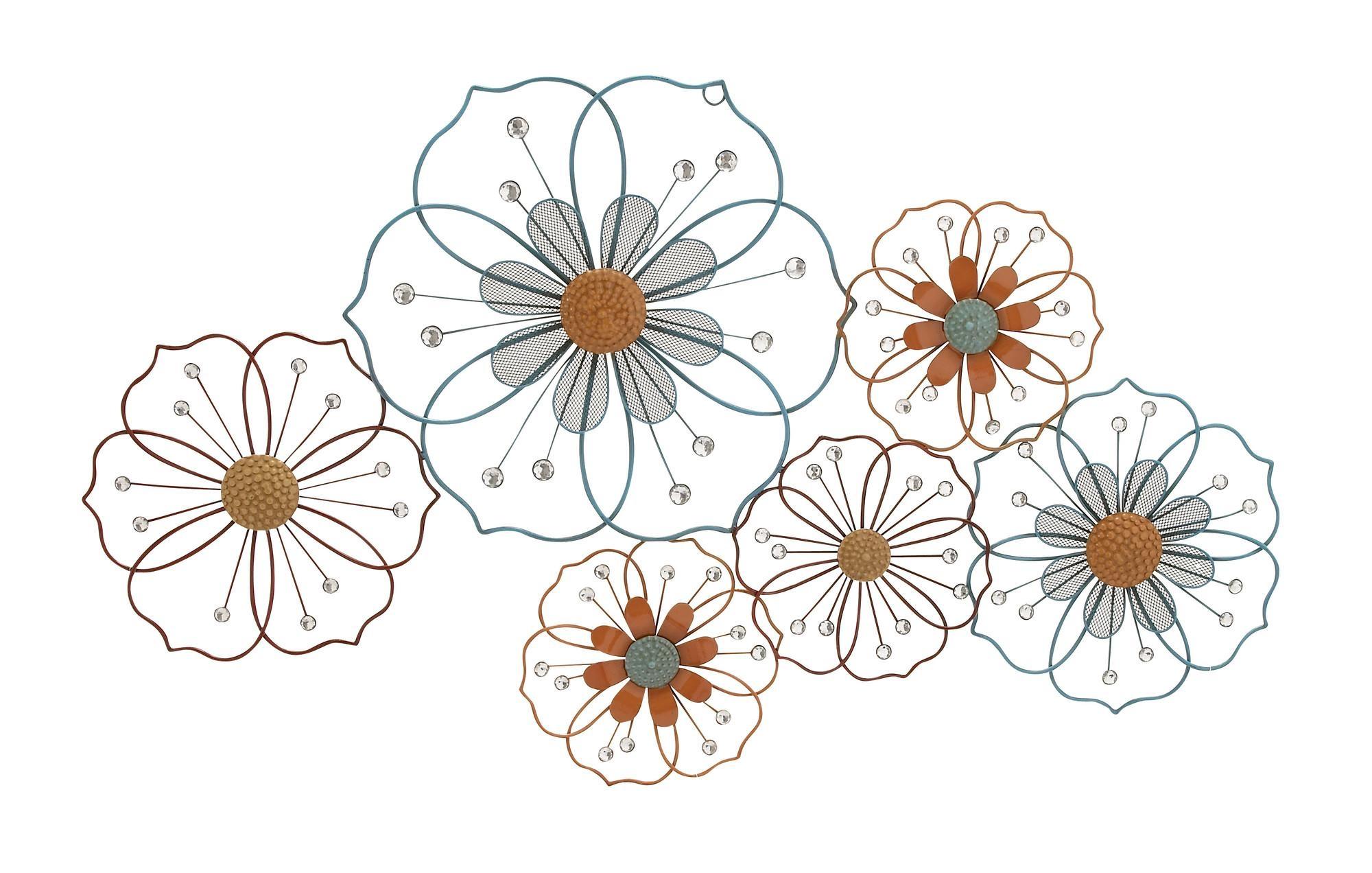 Metal Flower Wall Hanging (Image 10 of 20)