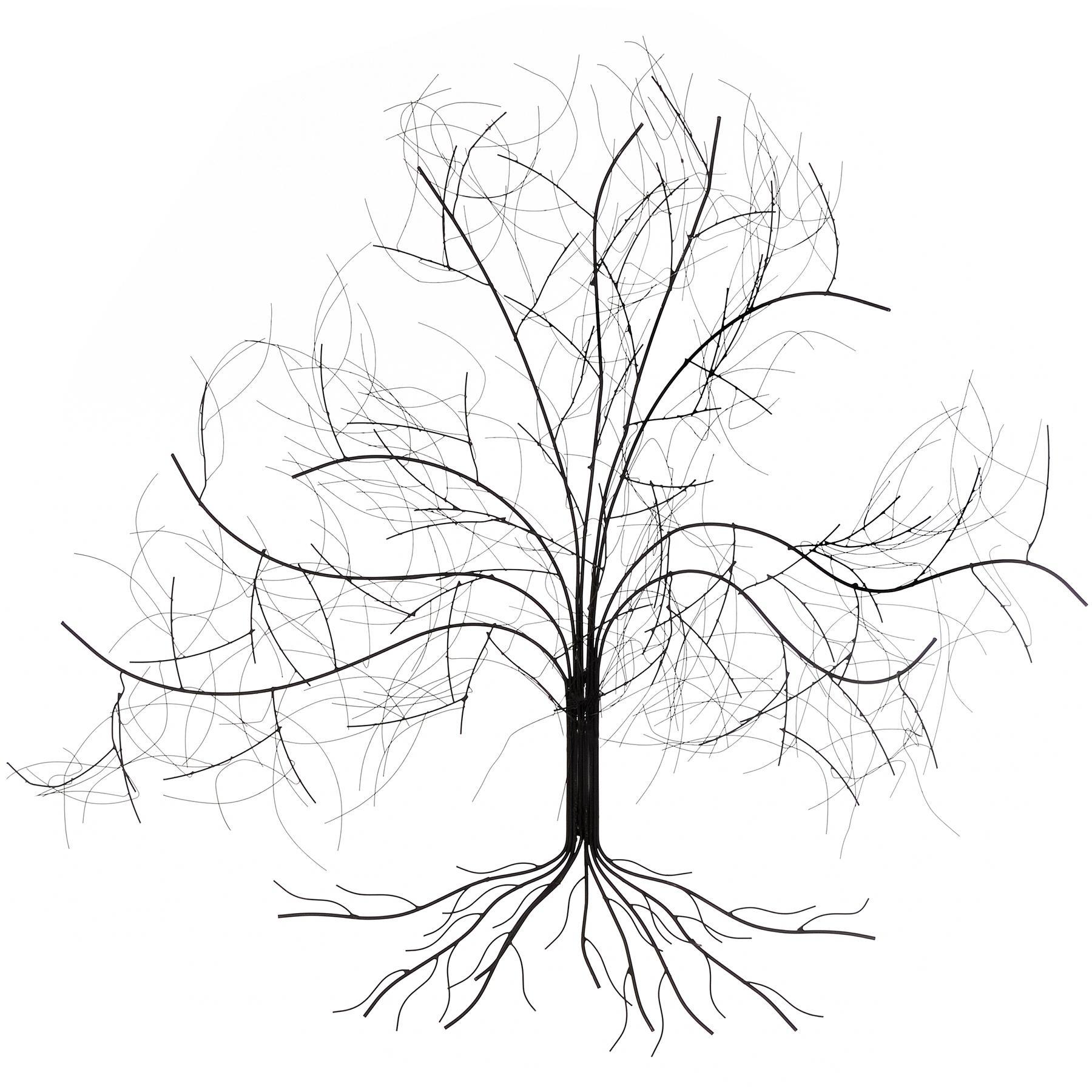 Featured Image of Oak Tree Metal Wall Art