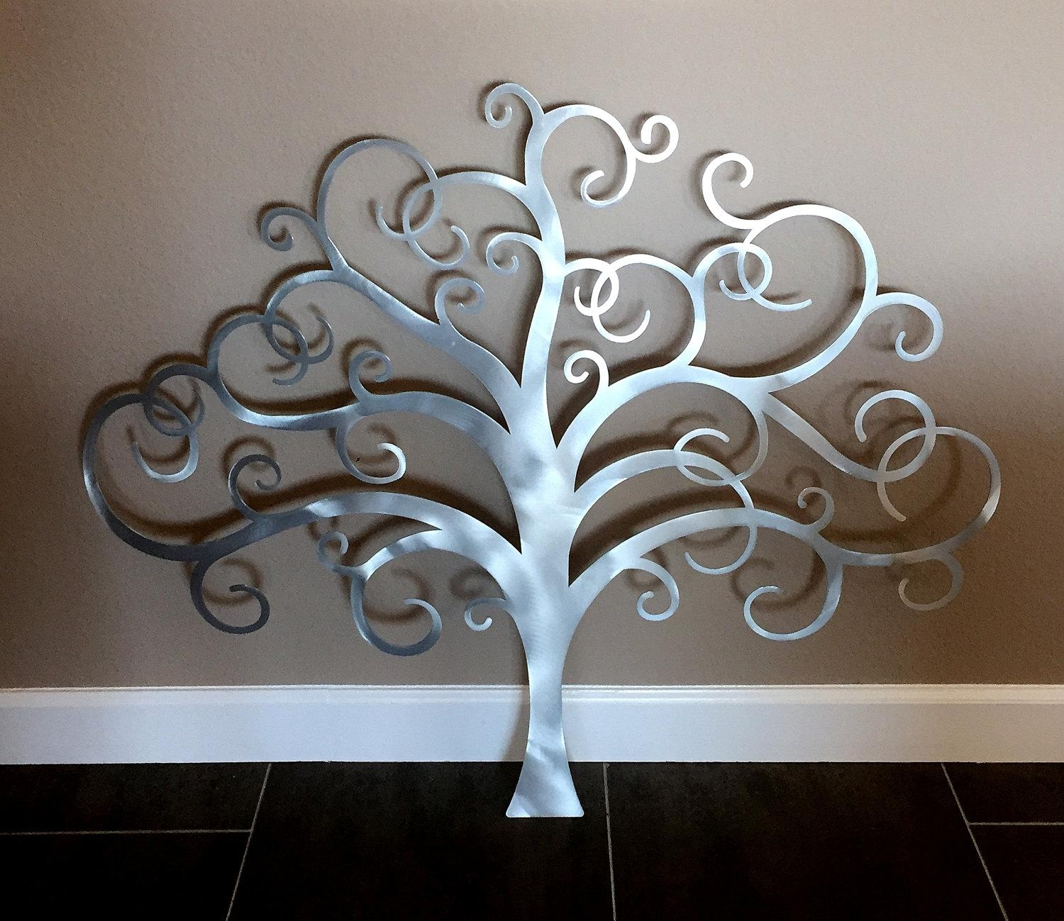 Metal Tree Wall Art Tree Of Life Wall Decor Metal Tree Wall With Tree Wall Art Sculpture (Image 9 of 20)
