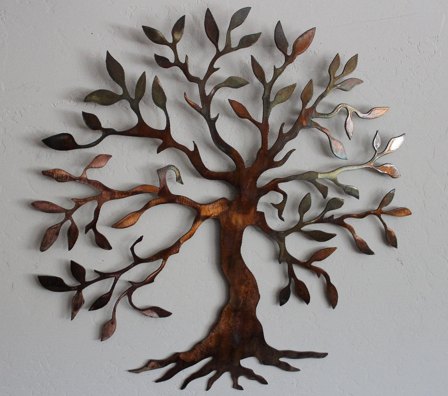 Metal Wall Art Decor And Sculptures Ideas | Jeffsbakery Basement Throughout Tree Wall Art Sculpture (Image 10 of 20)