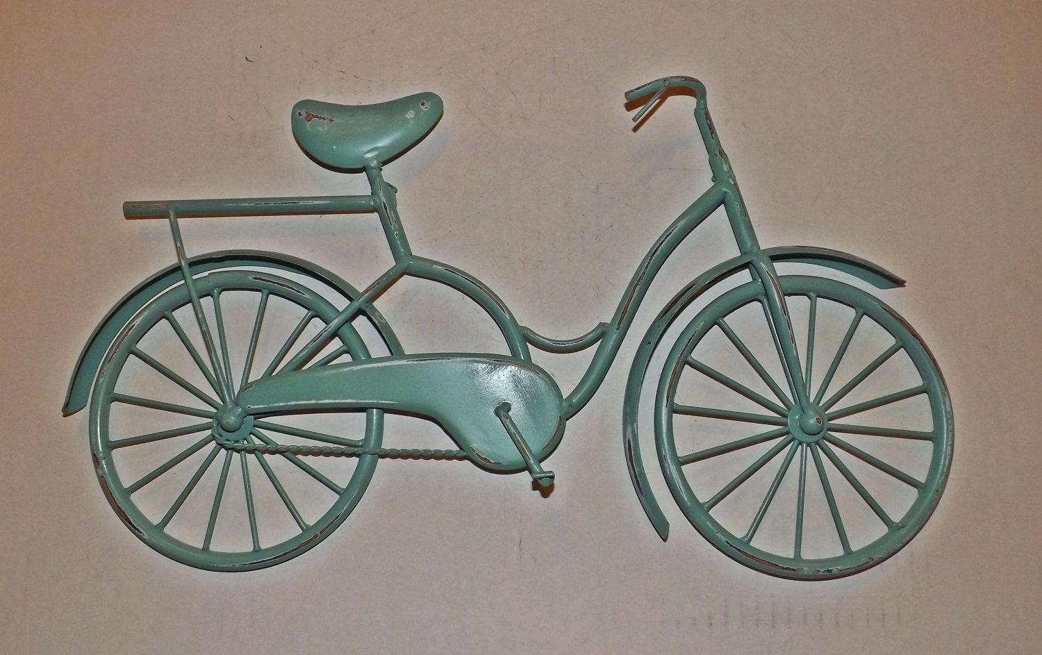 Metal Wall Art Decor – Bookpeddler Regarding Metal Bicycle Art (Image 11 of 20)