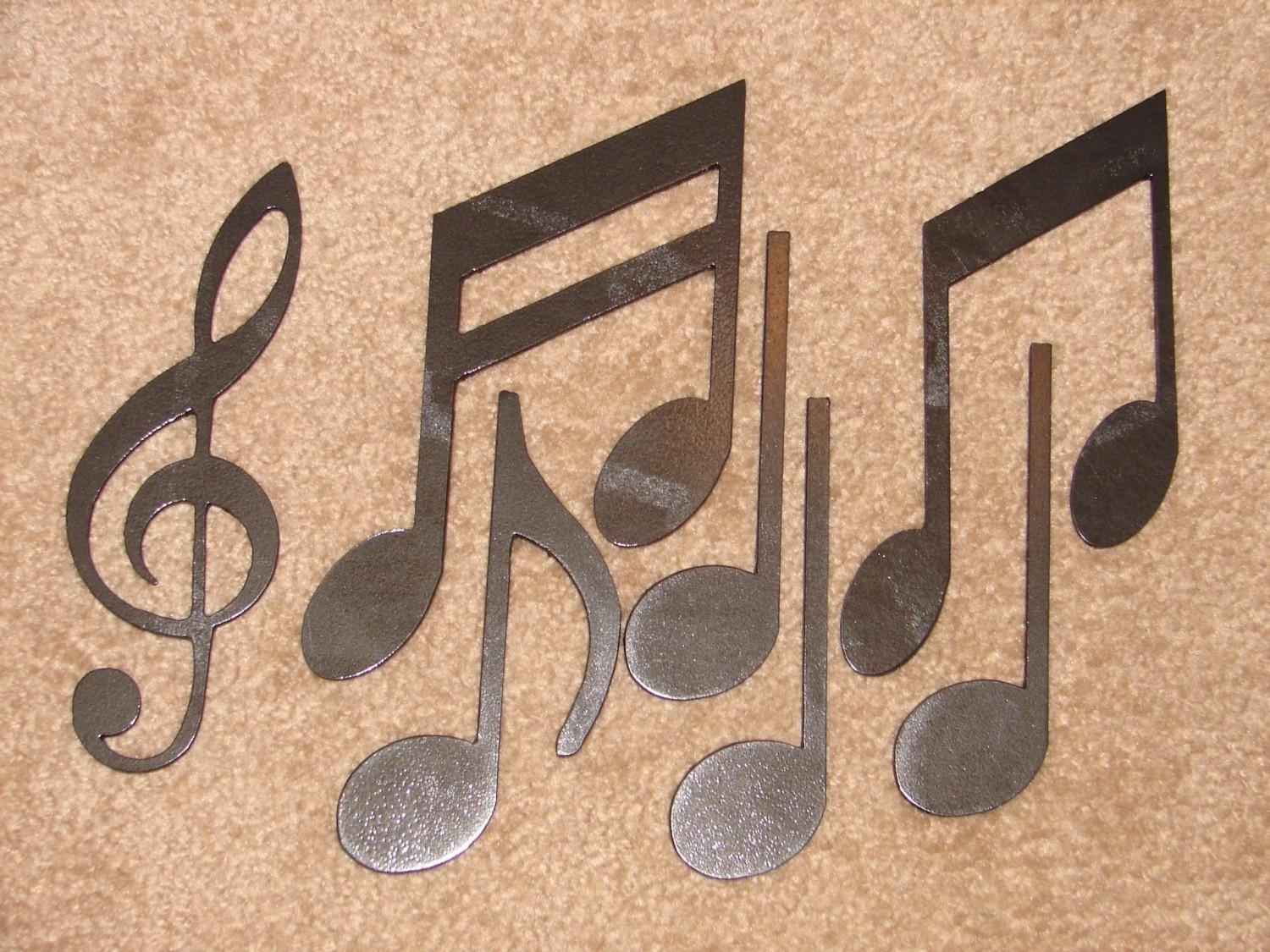 Metal Wall Art Decor Music Notes Musical Note Patio Within Music Note Art For Walls (View 14 of 20)