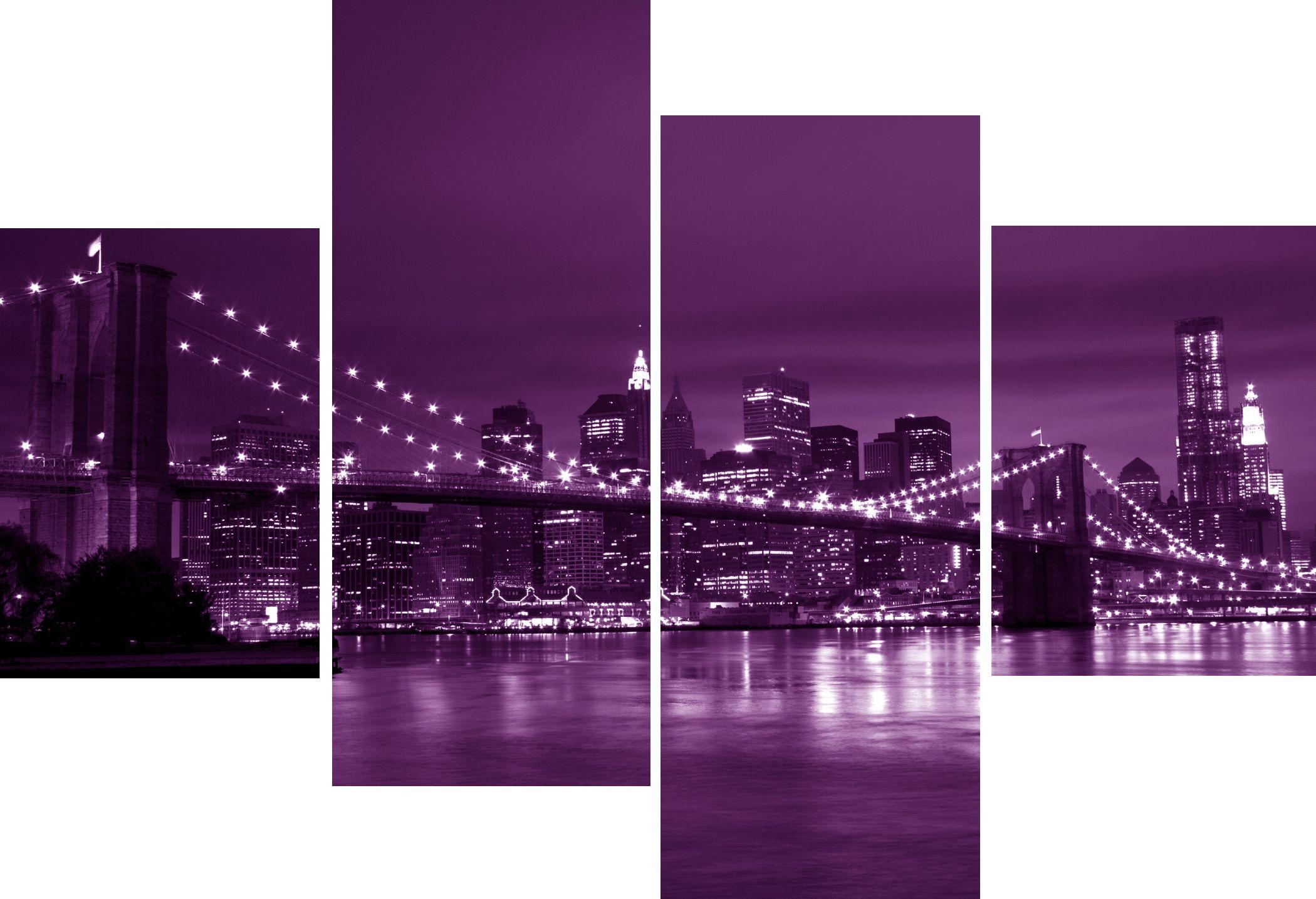 Metal Wall Art Design Inspiration Purple Wall Decor – Home Decor Ideas Throughout Brooklyn Bridge Metal Wall Art (Image 12 of 20)